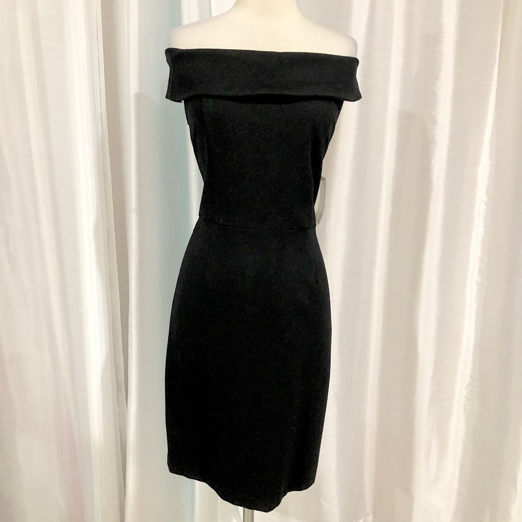 ALEXIA ADMOR Short Black Off The Shoulder Gown Size S NWT