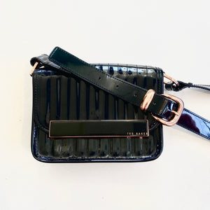 TED BAKER Black Patent Leather Crossbody