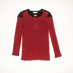 IRO Burgundy Long Sleeve Shirt