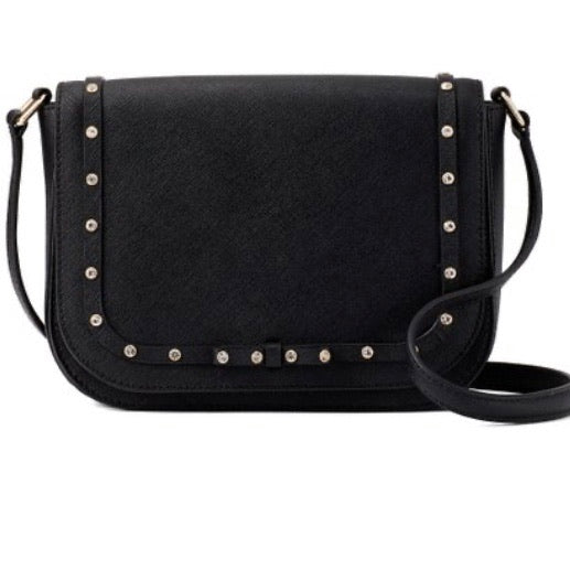 KATE SPADE Black Large Carsen Leather Crossbody