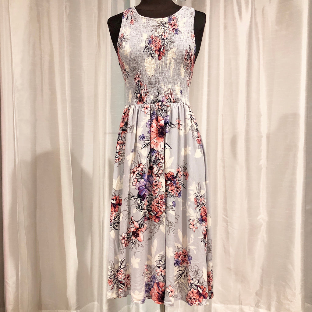 BLEUH CIEL Short Floral Print Dress Size M