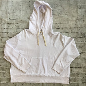 MONROW White Pullover Hoody Size M NWT