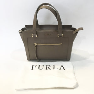 FURLA Cocoa Maika Top Zip Leather Satchel