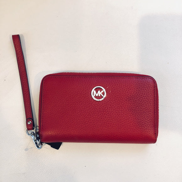 Michael Kors Red Fulton Phone Case/ Wallet NWT