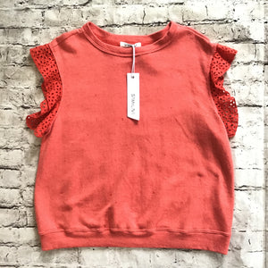 SAM & LAVI Red Pippa Top Size S NWT