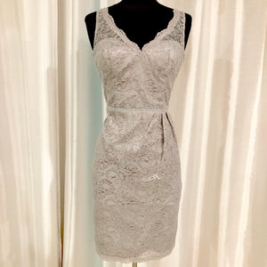 BOUTIQUE Short Silver Gown Size 4