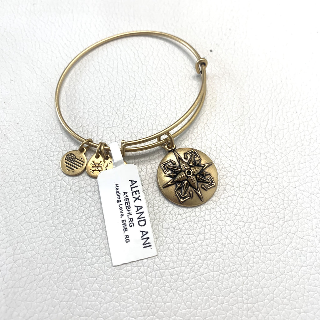 "ALEX AND ANI Gold ""Healing Love"" Charm Bracelet"