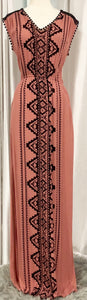 COCO + JAMESON Desert Sand Tribal Print Maxi Dress Size S NWT