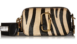 MARC JACOBS Snapshot Zebra Crossbody Bank
