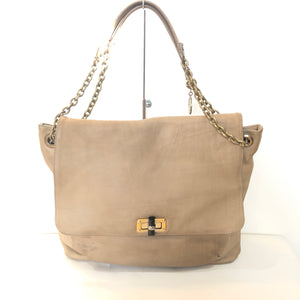 LANVIN Tan Leather Happy Shoulder Bag GM