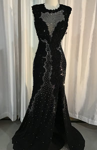 JOVANI BLACK LONG DRESS SIZE 6