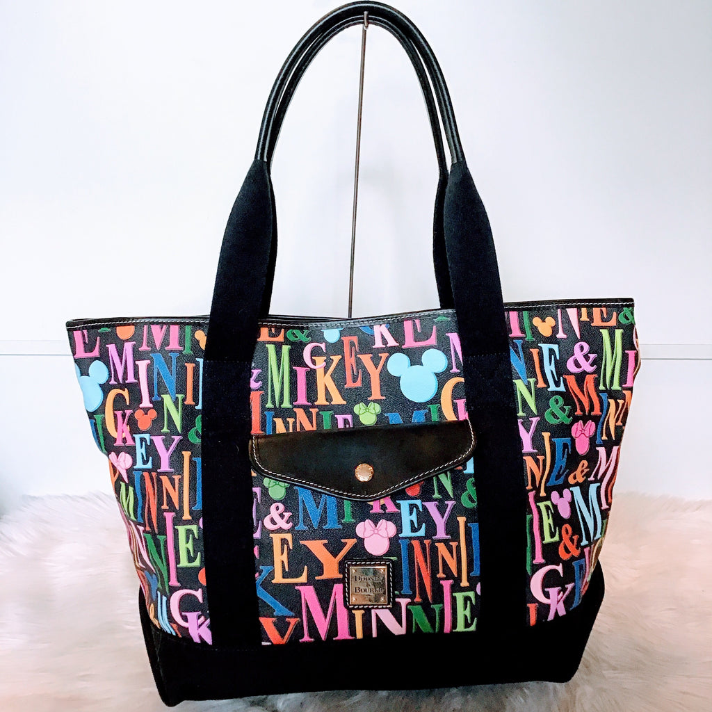 DOONEY AND BOURKE MICKEY AND MINNIE RAINBOW GO TO TOTE NWT