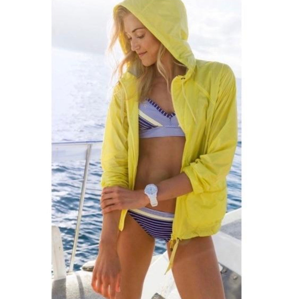 ATHLETA NWT Packable Indio Anorak Beach Size L Yellow
