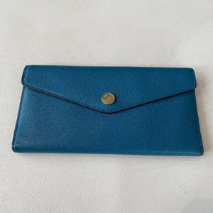 MICHAEL KORS Teal Leather Wallet
