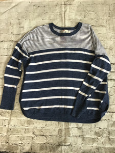 VINEYARD VINES Blue/White Striped Large Long Sleeve
