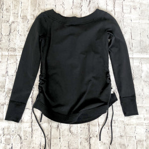 NANCY ROSE PERFORMANCE Black Crew Neck Sweatshirt Size 6