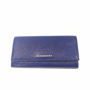 BURBERRY Brilliant Blue Patent Leather Porter Continental Wallet