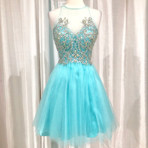 BOUTIQUE Short Light Blue Gown Size M