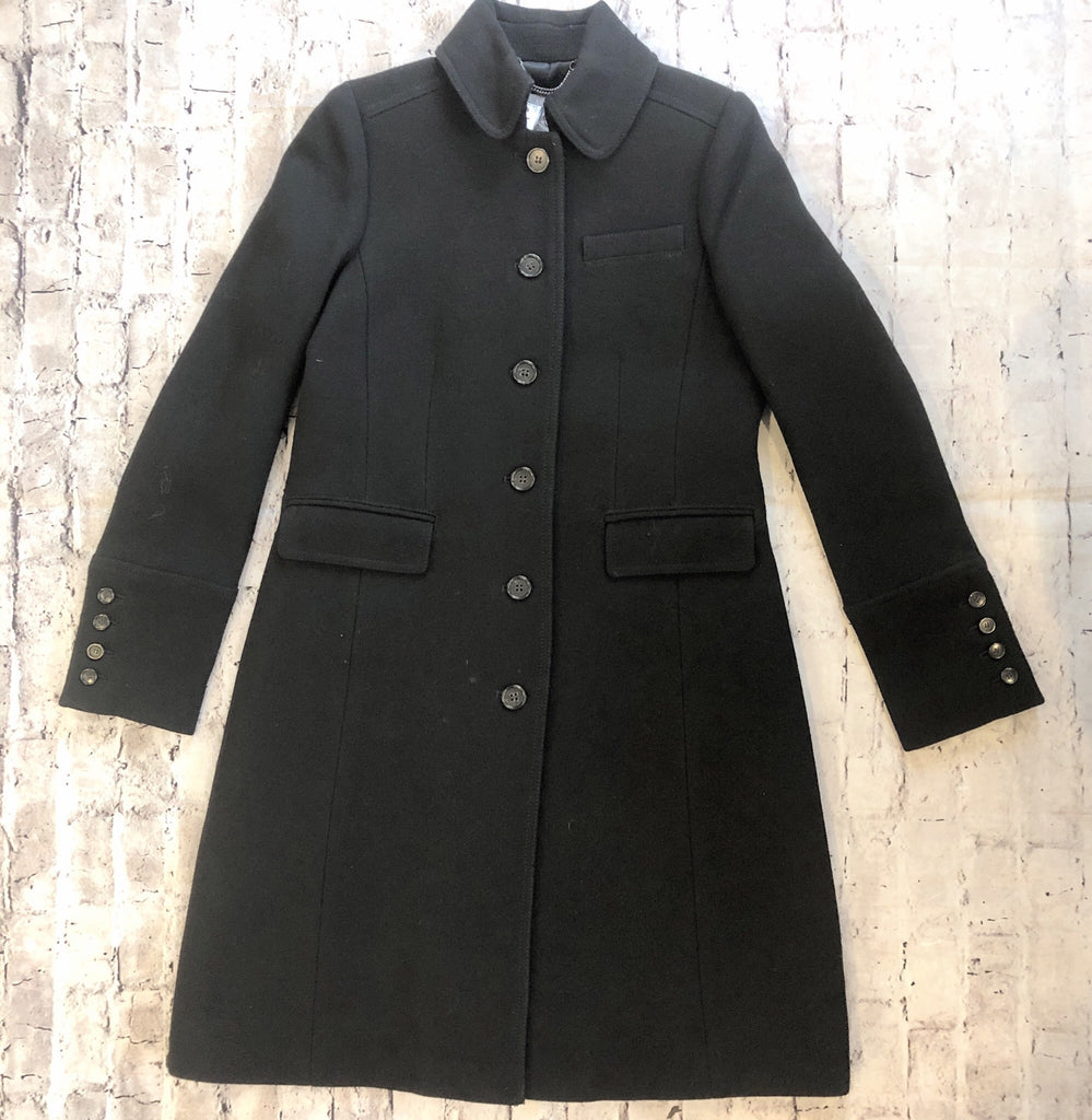 J CREW ITALIAN DOUBLE CLOTH WOOL LADY DAY COAT SIZE SMALL