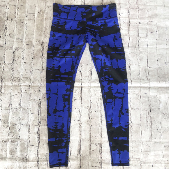 ALO Blue & Black Leggings Size S