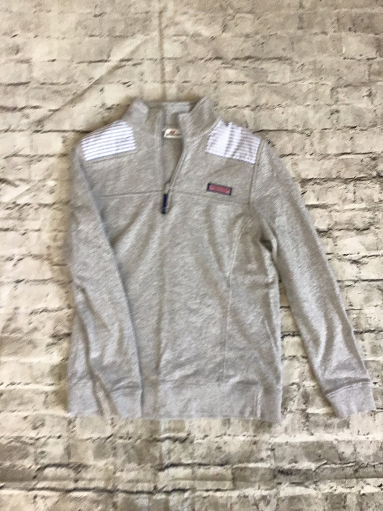 VINEYARD VINES Grey Size Small Long Sleeve 3/4 zip Pullover