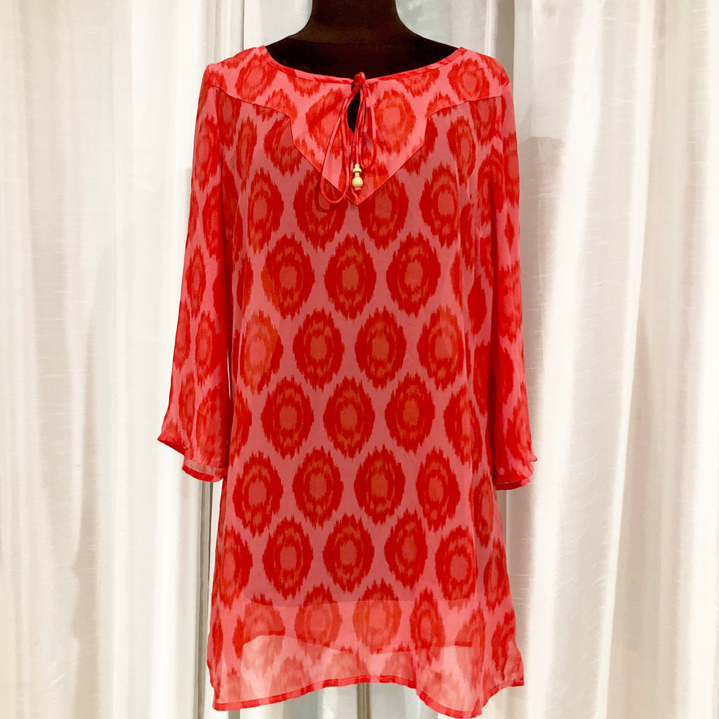 BOUTIQUE Red Sheer Cover Up