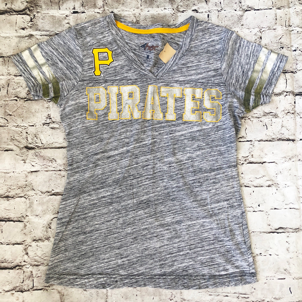 BOUTIQUE Grey Pittsburgh Pirates Shirt Size M
