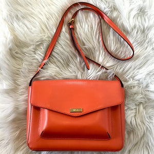 RALPH LAUREN LEATHER ORANGE CROSSBODY/ SHOULDER BAG