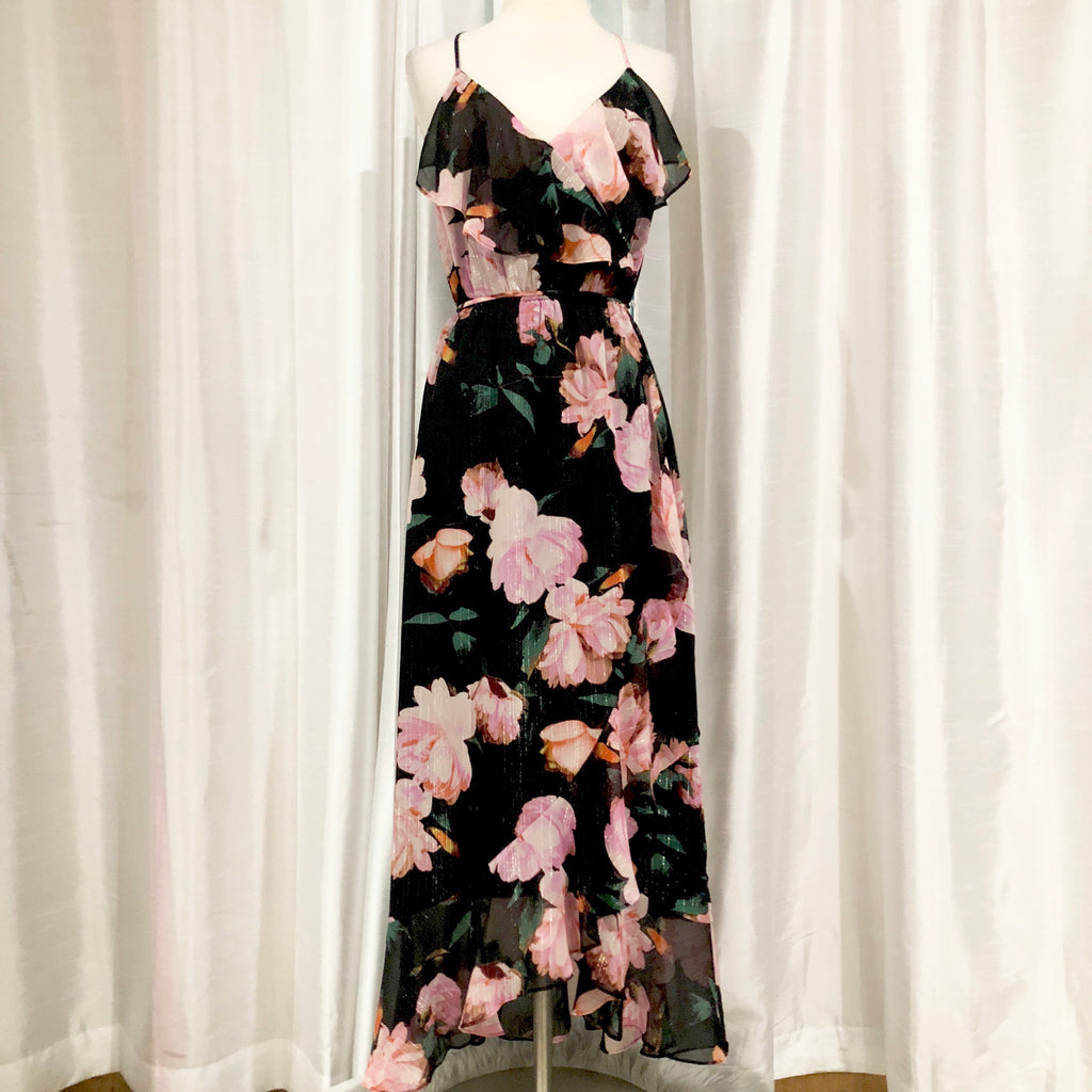 JENNIFER LOPEZ Floral Print Maxi Dress Size 2 NWT