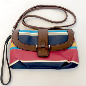 BOUTIQUE Multi-Color Striped Wristlet/ Crossbody