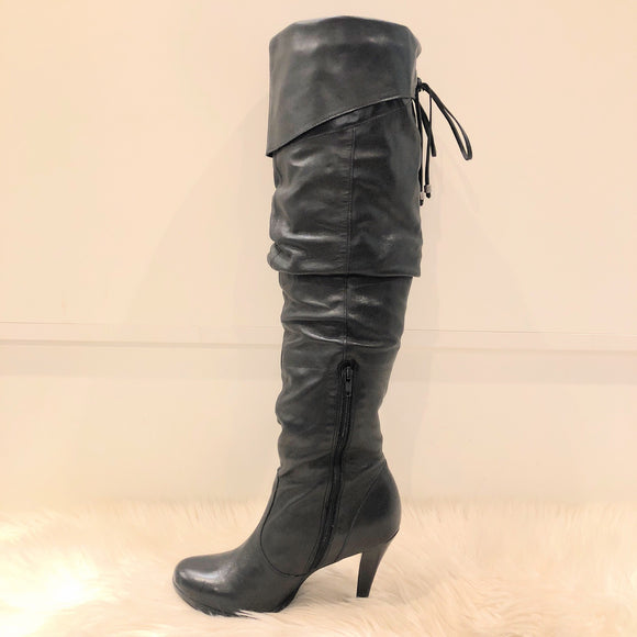 JESSICA SIMPSON KNEE HIGH BLACK BOOTS SIZE 5.5