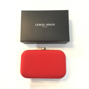 GIORGIO ARMANI BEAUTY Red Clutch NWT