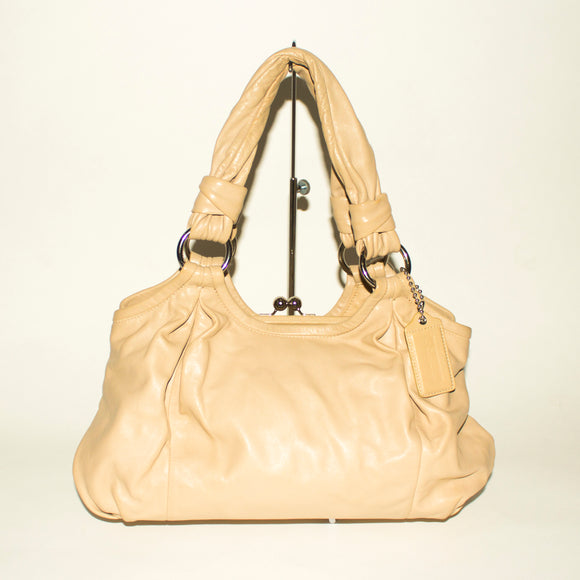 COACH Cream Shoulder Bag