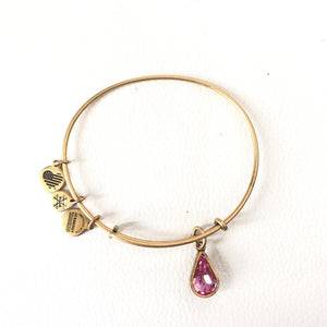 ALEX & ANI October Birthstone Charm Bangle Bracelet