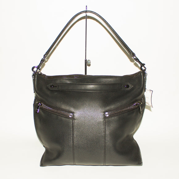 BOTKIER Soft Black Leather Shoulder Bag