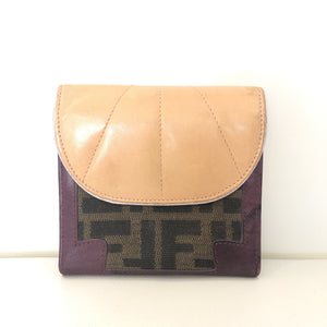 FENDI Brown Monogram & Multi-Color Wallet