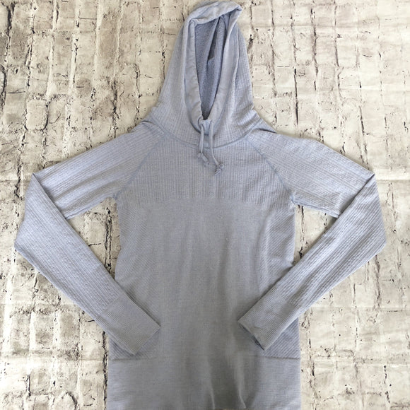 ATHLETA Periwinkle Pullover Hoodie Size M