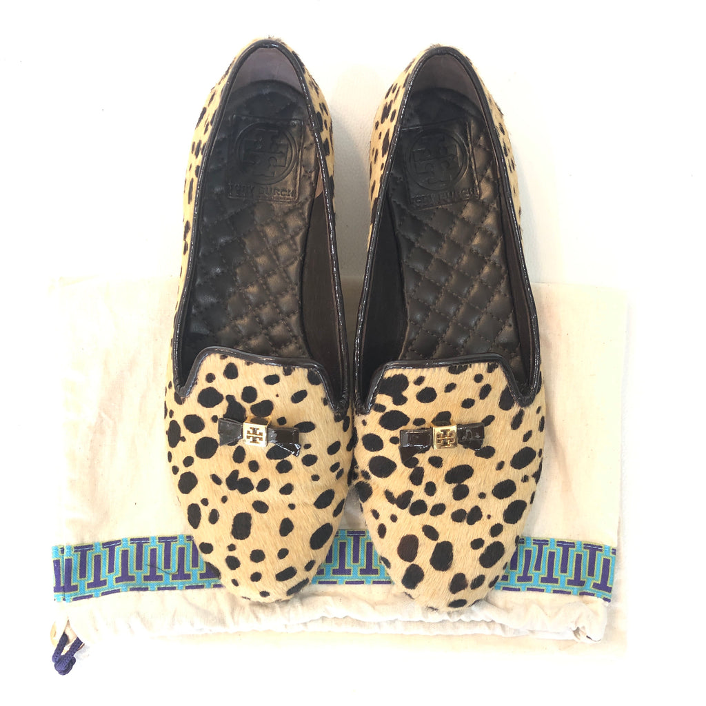 TORY BURCH Cheetah Print Calf Hair Chandra Loafer Size 8