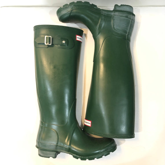 HUNTER BOOTS Hunter Green Original Tall Rain Boot Size 5