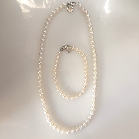 TIFFANY & CO Ziegfeld Pearl Necklace & Bracelet Set