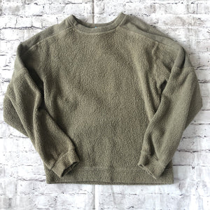 BOUTIQUE Olive Green Crew Neck Sweatshirt Size S