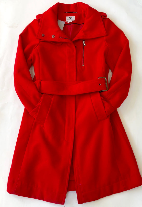 Worthington Red Long Lined Winter Coat Size L