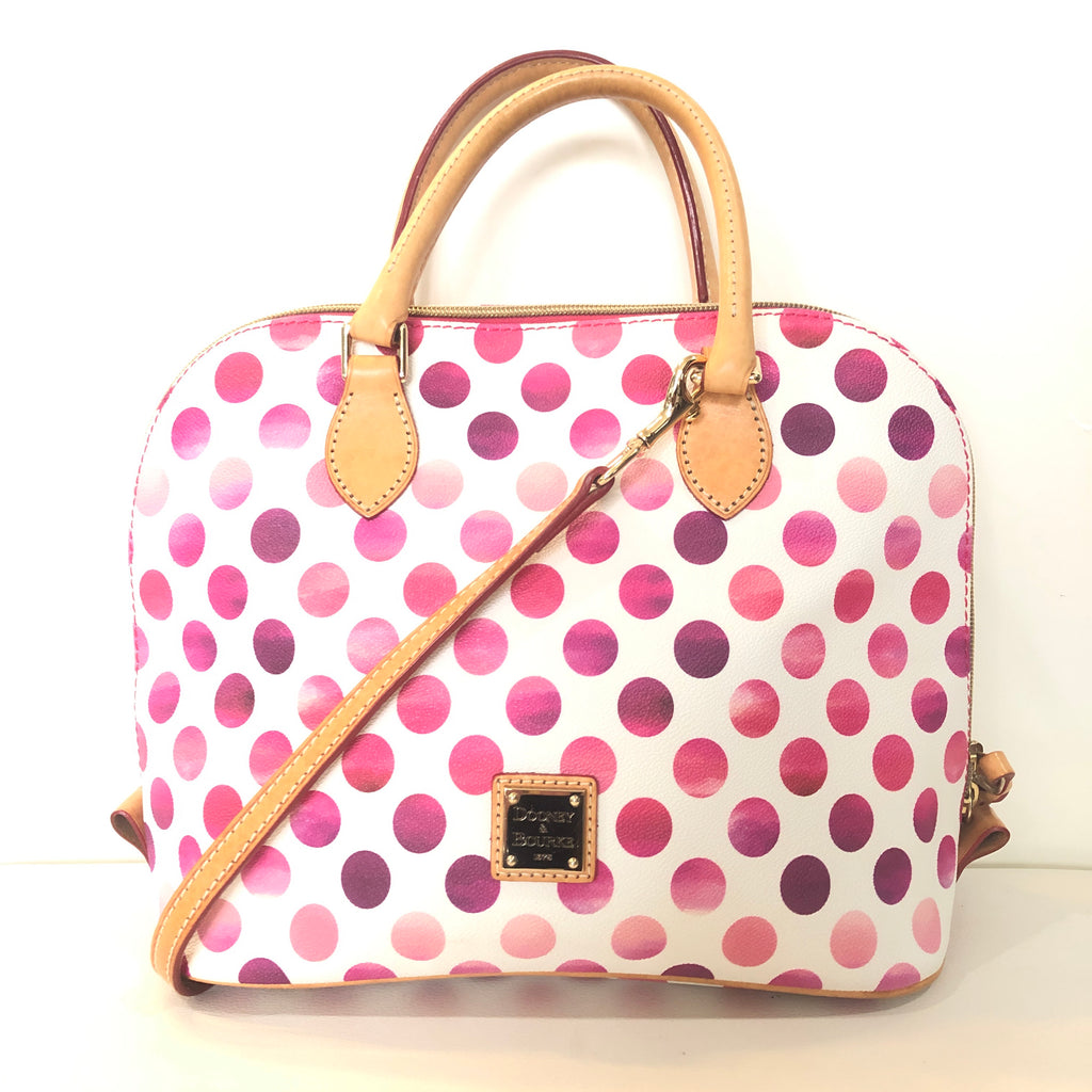 DOONEY & BOURKE Pink Polka Dot Zip Zap Satchel