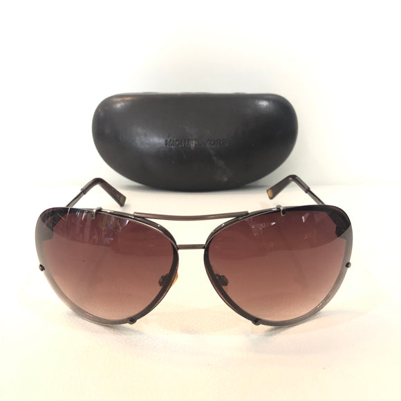 MICHAEL KORS Brown Stella Aviator Sunglasses