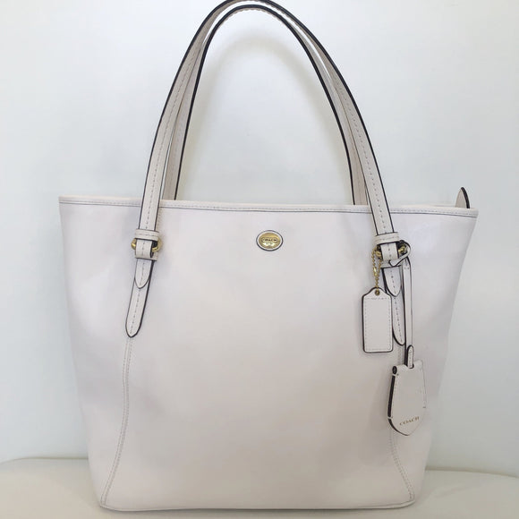 COACH Large White Tote