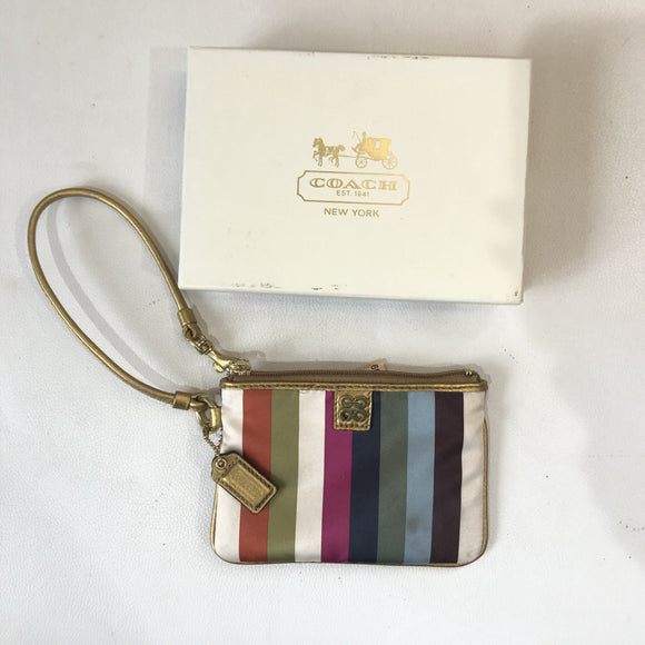 COACH Multi-Color Stripe Wristlet