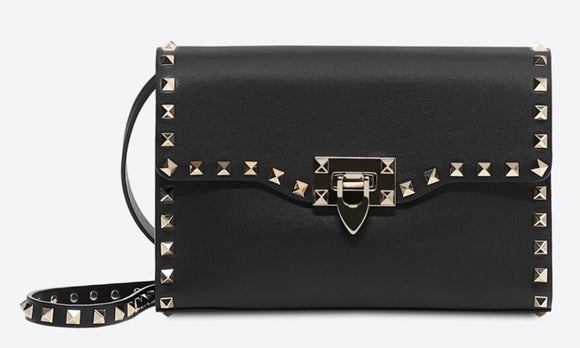 Valentino Garavani Rockstud Leather Shoulder Bag NWT