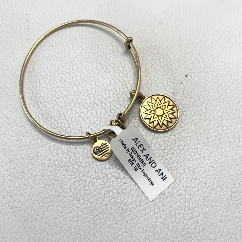 "ALEX AND ANI Gold ""New Beginnings"" Charm Bracelet"