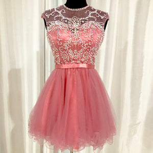 RACHEL ALLAN Short Dusty Rose Gown Size 0