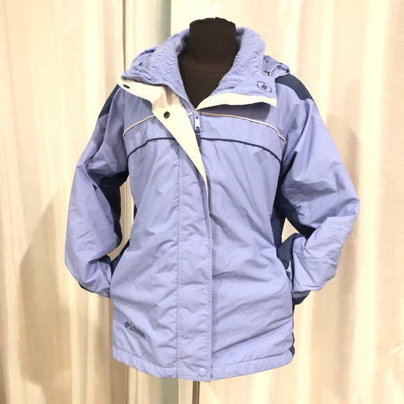 COLUMBIA Women's Interchange Periwinkle Jacket Size L